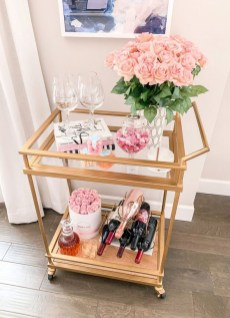 Sophisticated Bar Carts Ideas For Valentine Décor To Try Asap03