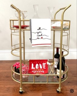 Sophisticated Bar Carts Ideas For Valentine Décor To Try Asap04