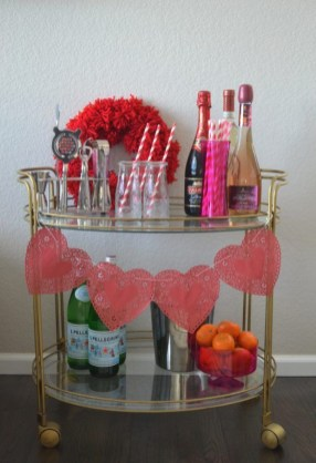 Sophisticated Bar Carts Ideas For Valentine Décor To Try Asap06