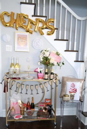 Sophisticated Bar Carts Ideas For Valentine Décor To Try Asap09