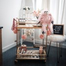 Sophisticated Bar Carts Ideas For Valentine Décor To Try Asap30
