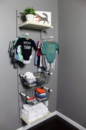 Splendid Baby Closet Organizer Design Ideas That Without Closet To Try17