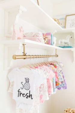 Splendid Baby Closet Organizer Design Ideas That Without Closet To Try25