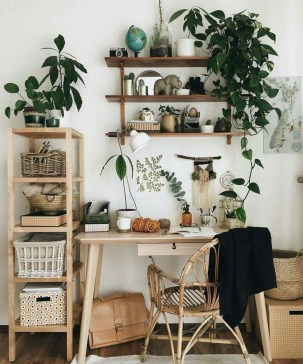 Fascinating Home Office Design Ideas With Beautiful Plants To Try Asap07