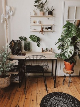 Fascinating Home Office Design Ideas With Beautiful Plants To Try Asap18