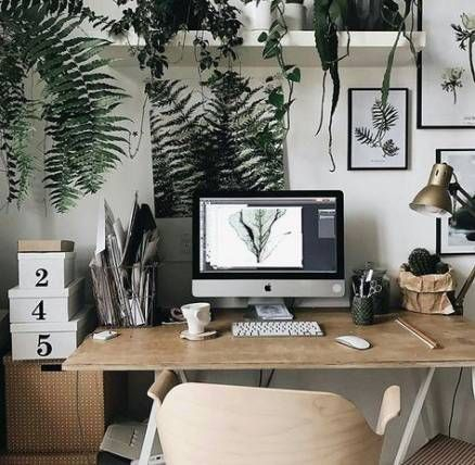 Fascinating Home Office Design Ideas With Beautiful Plants To Try Asap37