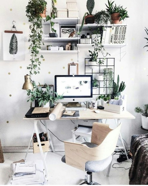 Fascinating Home Office Design Ideas With Beautiful Plants To Try Asap38