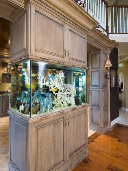 Glamorous Aquariums Design Ideas For Cool Interior Styles To Have10