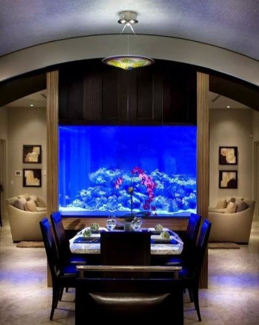 Glamorous Aquariums Design Ideas For Cool Interior Styles To Have16