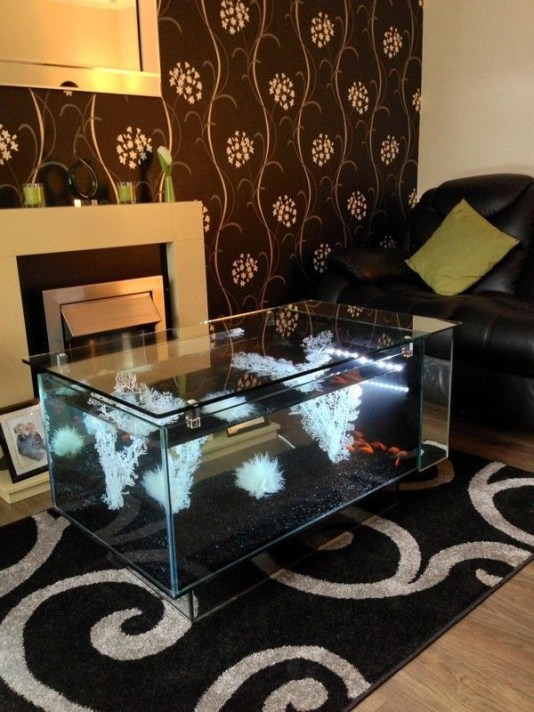 Glamorous Aquariums Design Ideas For Cool Interior Styles To Have33