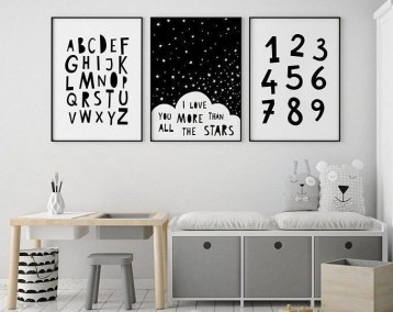 Marvelous Black And White Kids Room Design Ideas To Try This Month13