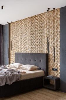 Newest Bedroom Design Ideas That Featuring With Wooden Panel Wall08