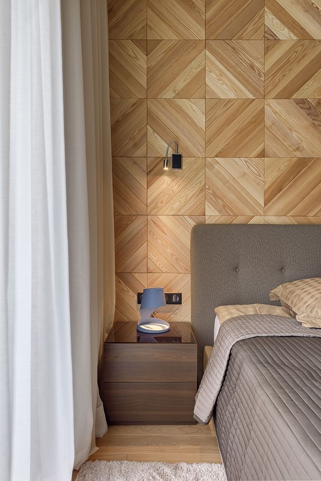 Newest Bedroom Design Ideas That Featuring With Wooden Panel Wall27