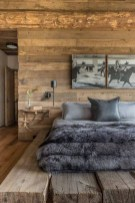 Newest Bedroom Design Ideas That Featuring With Wooden Panel Wall28