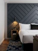 Newest Bedroom Design Ideas That Featuring With Wooden Panel Wall30