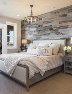 Newest Bedroom Design Ideas That Featuring With Wooden Panel Wall33