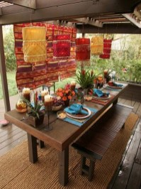 Newest Outdoor Bohemian Dining Room Design Ideas To Try Right Now14