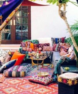 Newest Outdoor Bohemian Dining Room Design Ideas To Try Right Now19