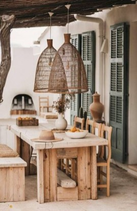 Newest Outdoor Bohemian Dining Room Design Ideas To Try Right Now31