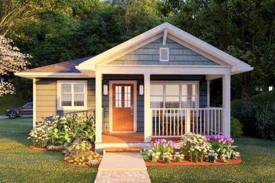 Adorable Front Porch Landscaping Design Ideas To Increase Your Home Style10