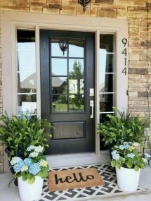 Adorable Front Porch Landscaping Design Ideas To Increase Your Home Style35