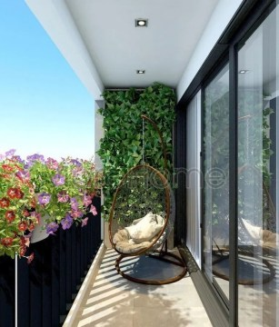 Affordable Small Balcony Design Ideas On A Budget09