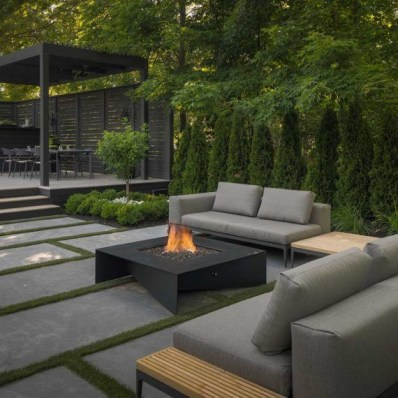 Best Patio Deck Design Ideas With Firepit To Make The Atmosphere Warmer04