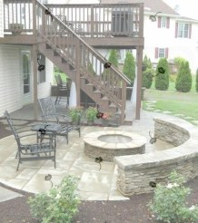 Best Patio Deck Design Ideas With Firepit To Make The Atmosphere Warmer09