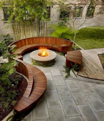 Best Patio Deck Design Ideas With Firepit To Make The Atmosphere Warmer15
