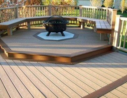 Best Patio Deck Design Ideas With Firepit To Make The Atmosphere Warmer33
