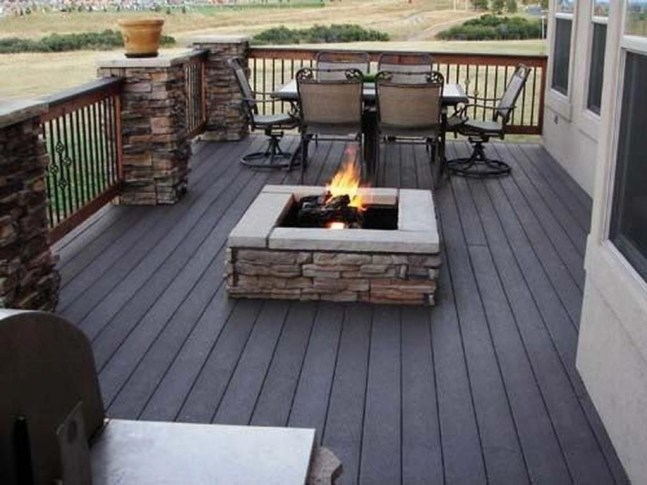 Best Patio Deck Design Ideas With Firepit To Make The Atmosphere Warmer35