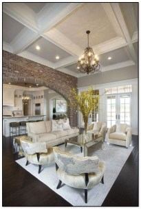 Brilliant Living Room Wood Ceiling Design Ideas That You Should Try04