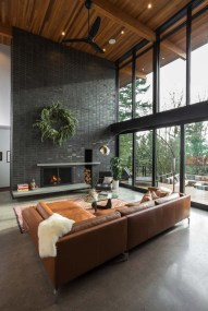 Brilliant Living Room Wood Ceiling Design Ideas That You Should Try17