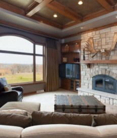 Brilliant Living Room Wood Ceiling Design Ideas That You Should Try21