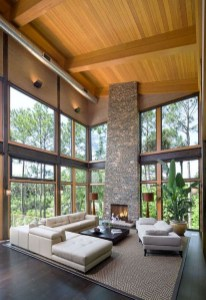 Brilliant Living Room Wood Ceiling Design Ideas That You Should Try22