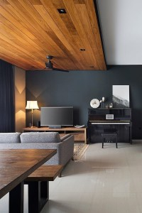 Brilliant Living Room Wood Ceiling Design Ideas That You Should Try25