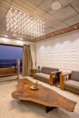 Brilliant Living Room Wood Ceiling Design Ideas That You Should Try33