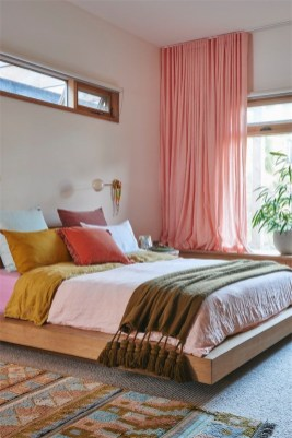 Captivating Colorful Bedroom Design Ideas That Looks So Lovely26