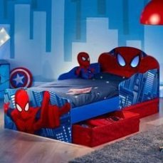 Latest Kids Bedroom Design Ideas With Spiderman Themes30