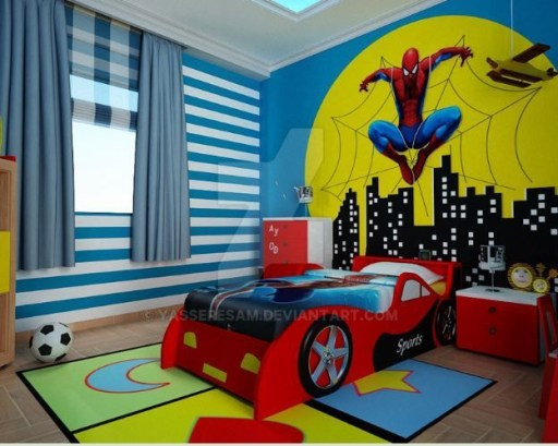 Latest Kids Bedroom Design Ideas With Spiderman Themes31