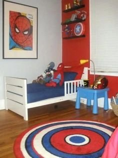Latest Kids Bedroom Design Ideas With Spiderman Themes32