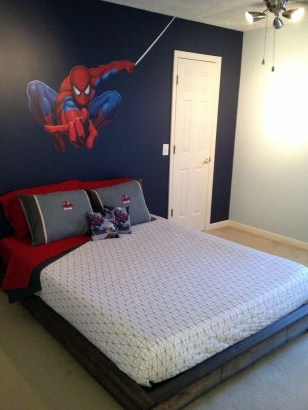 Latest Kids Bedroom Design Ideas With Spiderman Themes33