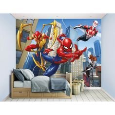 Latest Kids Bedroom Design Ideas With Spiderman Themes35