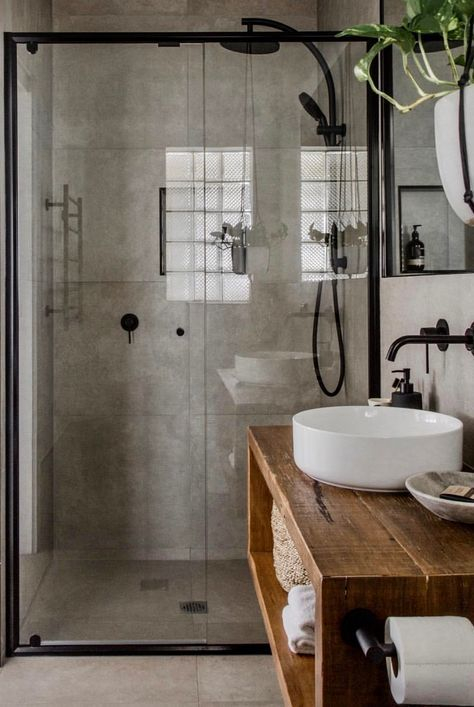 Stunning Black Bathroom Shower Design Ideas That You Need To Copy29