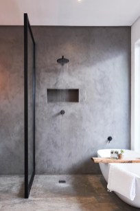 Stunning Black Bathroom Shower Design Ideas That You Need To Copy32