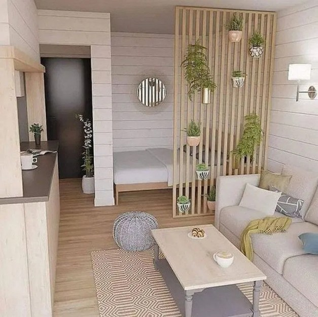 Unusual Small Bedroom Design Ideas For A Narrow Space34