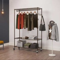 Awesome Diy Small Bedroom Design Ideas With Close Clothing Rack 04