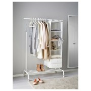 Awesome Diy Small Bedroom Design Ideas With Close Clothing Rack 07