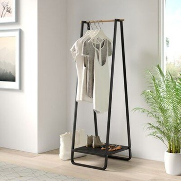 Awesome Diy Small Bedroom Design Ideas With Close Clothing Rack 10