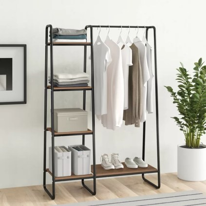 Awesome Diy Small Bedroom Design Ideas With Close Clothing Rack 13